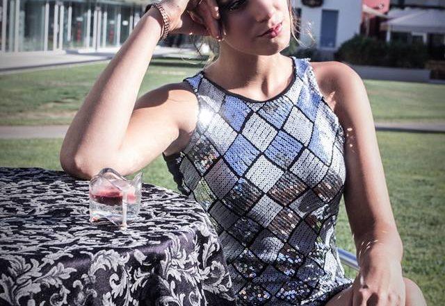 abito tubino-donna-paillettes-elegante